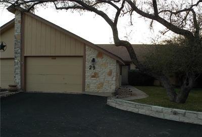 Lago Vista Condo/Townhouse For Sale: 29 Oaks Pl