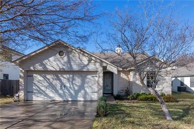 Leander Single Family Home For Sale: 1405 Waterfall Ave