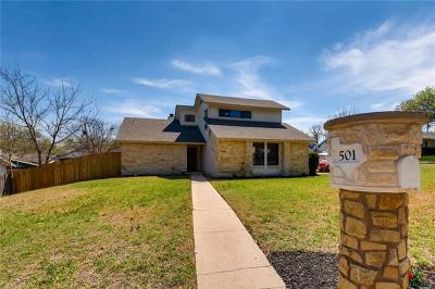 Round Rock Single Family Home For Sale: 501 Greenwich Pl