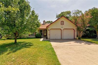Cedar Park TX Single Family Home For Sale: $218,000