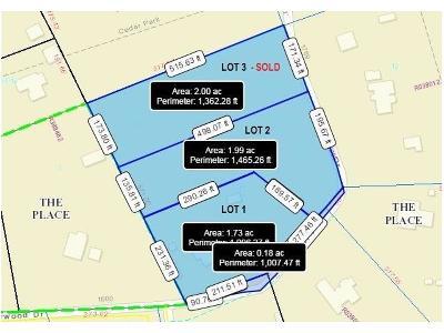 Cedar Park Residential Lots & Land For Sale: 1739 Starwood Dr #LOT 2