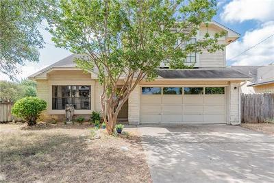 Round Rock Single Family Home Pending - Taking Backups: 1701 Hunters Trl