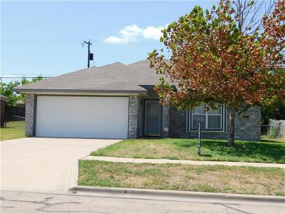 Killeen Single Family Home For Sale: 3107 Levy Ln