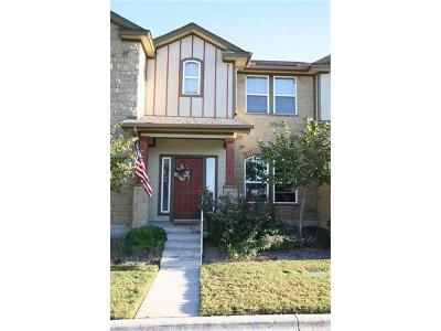 Cedar Park Condo/Townhouse For Sale: 734 Lost Pines Ln