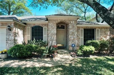 Cedar Park Single Family Home Pending - Taking Backups: 2612 Little Elm Trl