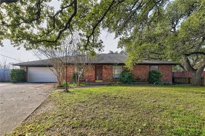 Travis County Single Family Home Pending - Taking Backups: 1001 Chimney Rock Dr