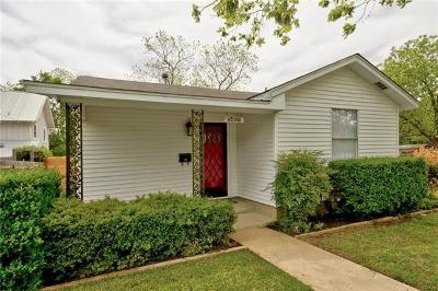 Travis County Single Family Home For Sale: 5401 Avenue G