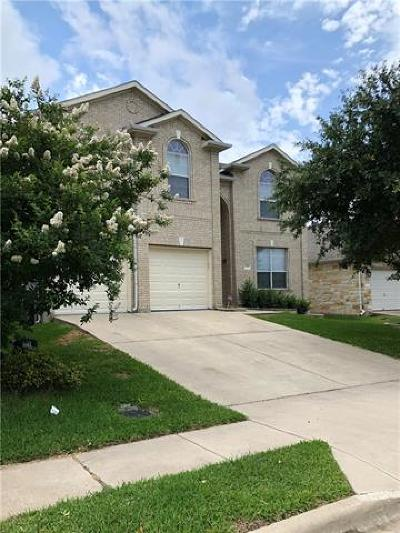 Round Rock Single Family Home For Sale: 3428 Shiraz Loop