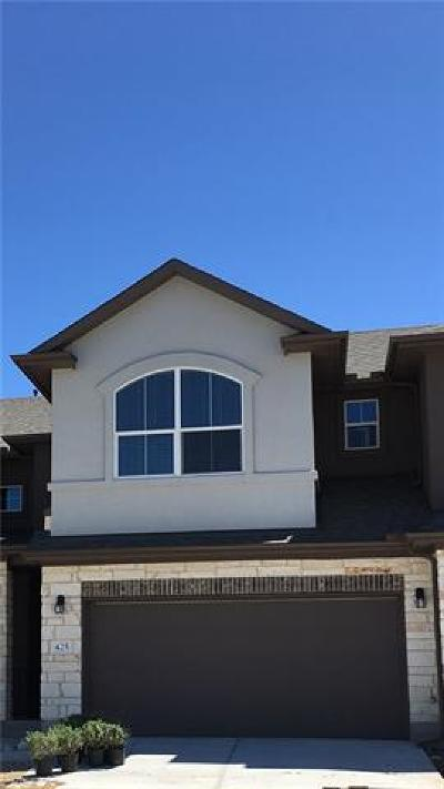 Pflugerville Condo/Townhouse For Sale: 425 Epiphany Ln