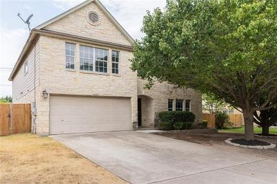 Round Rock Single Family Home For Sale: 4200 Cisco Valley Dr