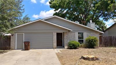 Round Rock Single Family Home For Sale: 1802 Cameo Dr