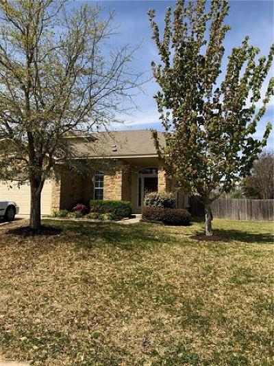 Round Rock Single Family Home Pending - Taking Backups: 4121 Pebble Ridge Cv