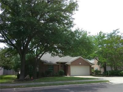 Cedar Park Single Family Home For Sale: 1233 Red Ranch Cir