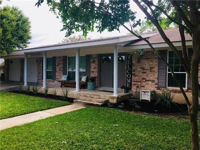 Round Rock Single Family Home For Sale: 703 Ridge Crest Dr