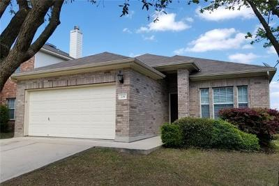 Leander Single Family Home For Sale: 239 Housefinch Loop