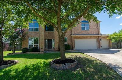 Pflugerville Single Family Home Pending - Taking Backups: 18912 Hill Top Canyon Cv