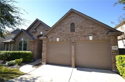 Round Rock Single Family Home For Sale: 4396 Barchetta Dr