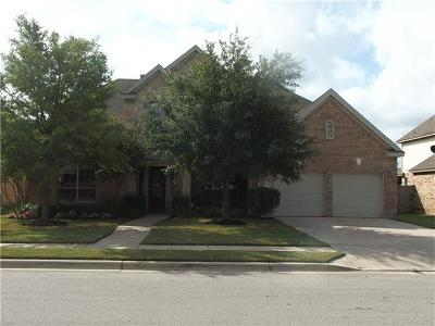 Round Rock Single Family Home For Sale: 3545 Citrine Pl