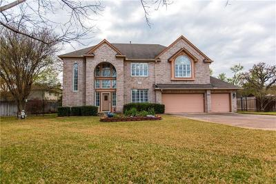 Round Rock Single Family Home For Sale: 1829 Cedar Bend Dr