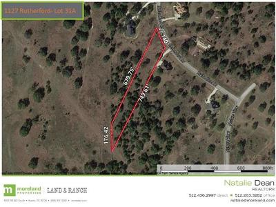 Driftwood Residential Lots & Land For Sale: 1127 Rutherford