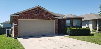 Hutto Single Family Home Active Contingent: 113 Altamont St