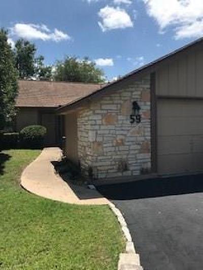 Lago Vista Condo/Townhouse For Sale: 59 Oaks Pl