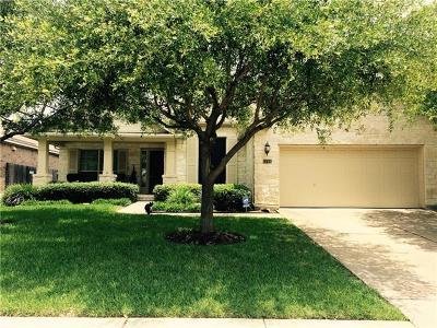 Cedar Park Single Family Home For Sale: 1708 Chula Vista Dr
