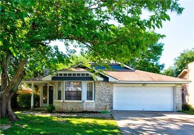 Round Rock Single Family Home For Sale: 807 David Curry Dr