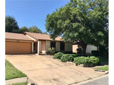 Round Rock Single Family Home For Sale: 1714 Goodson Ln