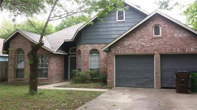 Round Rock Single Family Home Pending - Taking Backups: 521 Maple Run