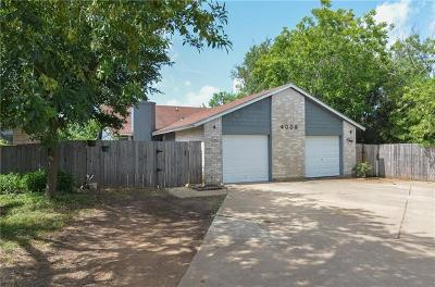 Round Rock Multi Family Home For Sale: 4009 Stonebridge Dr