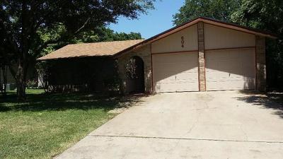 Round Rock Rental For Rent: 604 Buckskin Dr