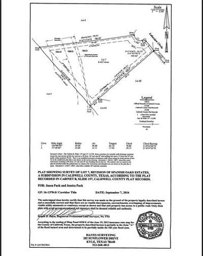 Lockhart Residential Lots & Land For Sale: 7 Lakeview Cir