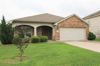 Hutto Single Family Home For Sale: 132 Campos Dr
