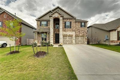 Round Rock Single Family Home For Sale: 7813 Arezzo Dr