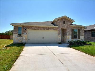 Leander Single Family Home For Sale: 1024 Myrna Bnd