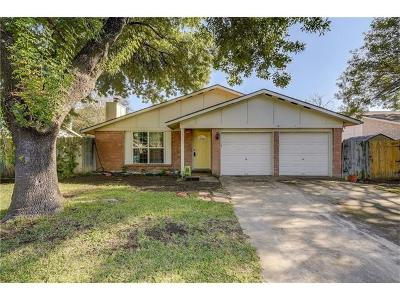 Round Rock Single Family Home For Sale: 1101 Wayne Dr