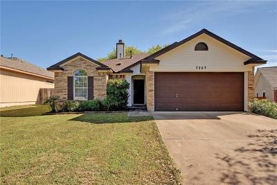Del Valle Single Family Home Pending - Taking Backups: 7207 Kellner Cv