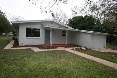 Burnet Single Family Home For Sale: 713 E Tate St
