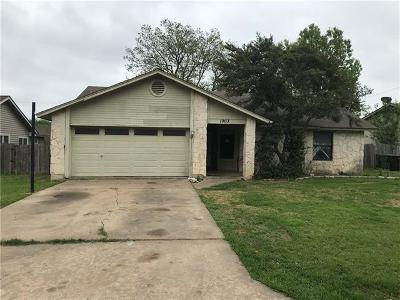 Round Rock Single Family Home For Sale: 1903 Lancaster Gate Dr