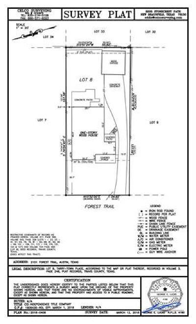 Austin Single Family Home Pending - Taking Backups: 2101 Forest Trl