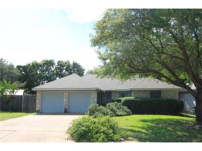 Leander Single Family Home Pending - Taking Backups: 1813 Parkwood Dr