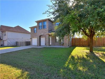 Round Rock Single Family Home For Sale: 19825 San Chisolm Dr
