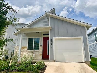 Austin Single Family Home For Sale: 209 Verrado Path