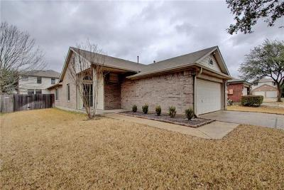 Round Rock Single Family Home For Sale: 17510 Salt Flat Ln