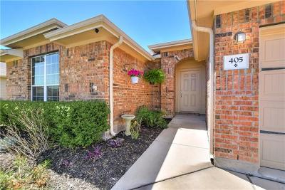 Hutto Single Family Home For Sale: 405 Hyltin St