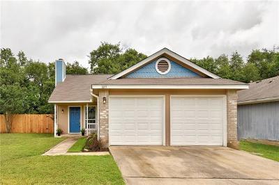 Cedar Park Single Family Home For Sale: 809 Sunny Ln