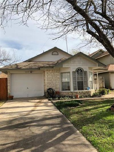 Travis County, Williamson County Single Family Home Pending - Taking Backups: 16803 Pocono Dr