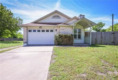 Round Rock Single Family Home For Sale: 1910 James Pl