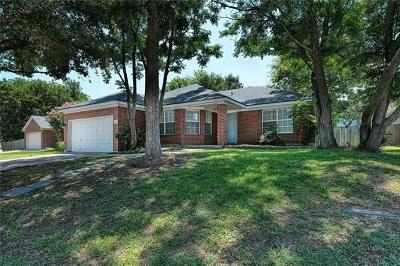 Round Rock  Single Family Home For Sale: 3007 Sugar Berry Cv